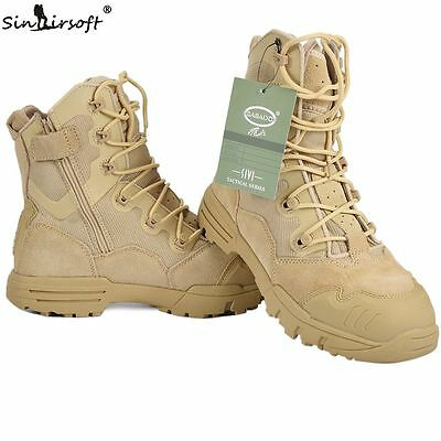 Outdoor Military Tactical Boots Breathable Anti-Slip Fishing Travel Hiking Shoes