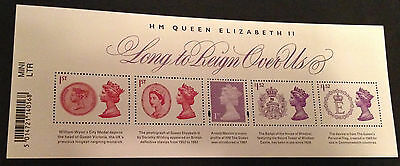GB Miniature Mini Sheet 2015 LONG TO REIGN OVER US + Barcode MNH