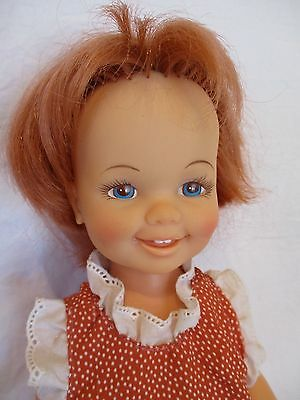 Vintage CINNAMON Ideal Chrissie Doll 1971 Original Shoes Outfit Hair Works! MINT