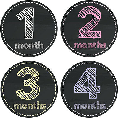 Personalised Monthly Baby Stickers, Milestone Stickers, Baby Shower Gift_G030