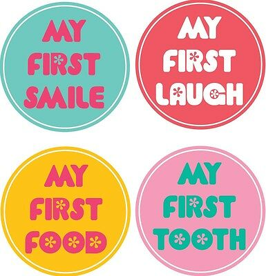 Personalised Baby Milestone Stickers, Baby Stickers, Baby Shower Gift_M001