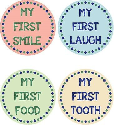 Personalised Baby Milestone Stickers, Baby Stickers, Baby Shower Gift_M003
