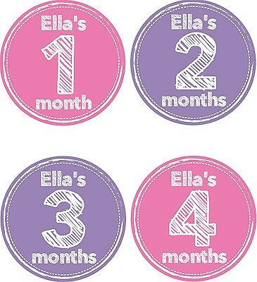Personalised Monthly Baby Stickers, Milestone Stickers, Baby Shower Gift_G003