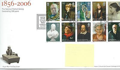 GB - FIRST DAY COVER - FDC - COMMEMS -2006- NATIONAL  PORTRAIT GALLERY - Pmk TH