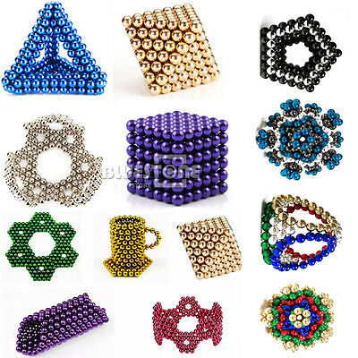 216Pcs 5mm Magnet Balls Magic Beads 3D Puzzle Ball Sphere Magnetic