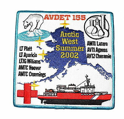 AVDET 155 ARTIC WEST SUMMER 2002 – USCG – MILITARY Police Sheriff Patch RED CROS