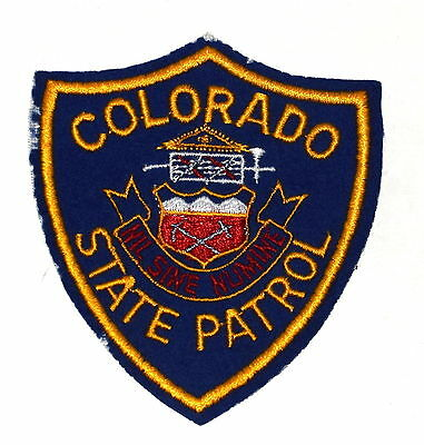 COLORADO STATE PATROL CO Police Sheriff Patch SEAL VINTAGE OLD CUT EDGE FELT ~