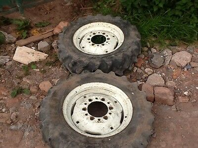 2 wheels & tyres for compact tractor sizes 7-14