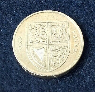 2015 Royal Shield Of Arms £1 One Pound Coin - 4th Portrait