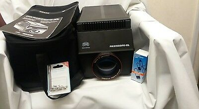 Braun Paxiscope-XL  Instructions, Braun carry bag, spare bulb and fuses included
