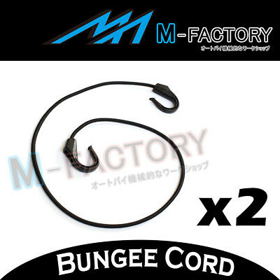 2x Black Bungee Cord POM 100cm Hooks Durable Top Quality For Motorcycles 104E