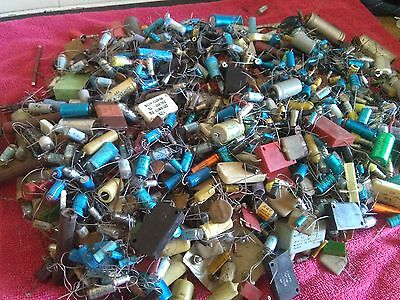 Large Job Lot Of  Vintage Capacitors For Valve Amplifiers / Valve equipment Etc