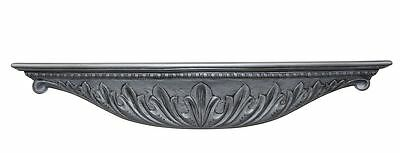 Ornate Leaf Wall Shelf in Antique Silver Made in USA