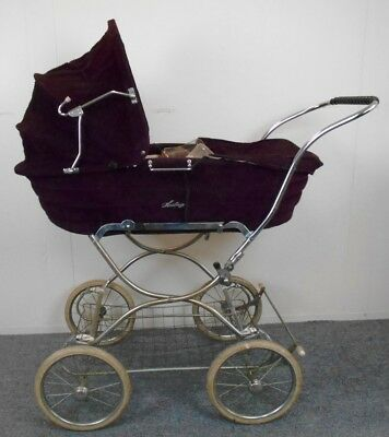Wonderful Vintage Herlag Baby Carriage with Detachable Bassinet