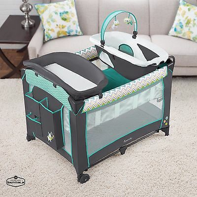Changing Table Set Portable Baby Furniture Play Playards Basset Crib Boy Girl