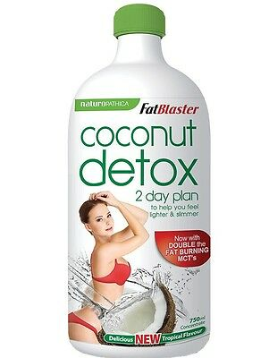 6 x Naturopathica FatBlaster Coconut Detox 750ml 2 Day Plan LONG DATE