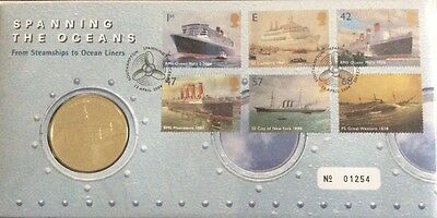 2004 RMC39 Spanning The Oceans. Ocean Liners Medal Cover