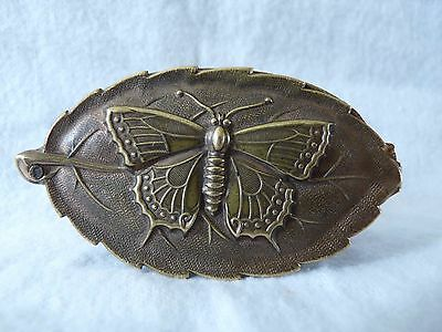 RARE ANTIQUE W. AVERY & SON BUTTERFLY ON LEAF NEEDLE CASE LATE 1800's