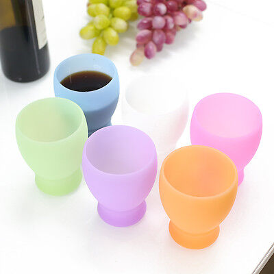 Silicone Wine-Drinking Beer Glass Cups Home Bar Glassware Unbreakable Outdoor