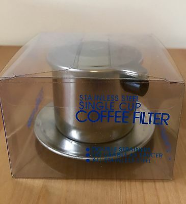 Stainless Steel Single Cup Coffee Filter For Trung Nguyen Vietnamese Coffee