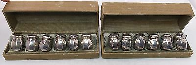 GHF G.H. French & Co Miniature Sterling Silver 12x Salt & Pepper Shakers 2 Sets