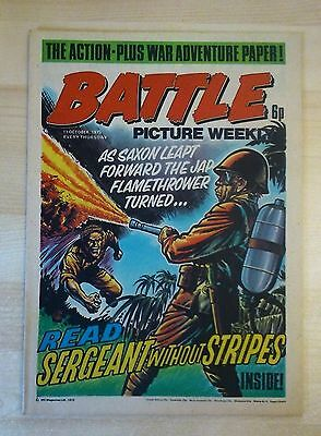BATTLE PICTURE WEEKLY UK Comic. First Year Issue - 1975. (11 October 1975)