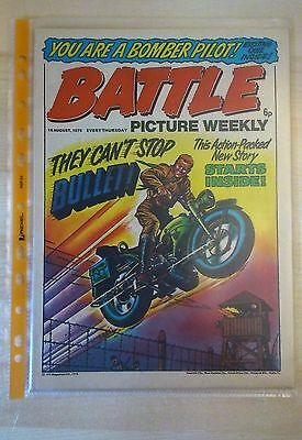 BATTLE PICTURE WEEKLY UK Comic. First Year Issue - 1975. (16 August 1975)