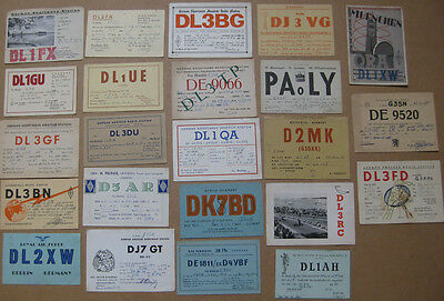 Collection of 23 Amateur Radio QSL Cards all from GERMANY dated 1945-1951