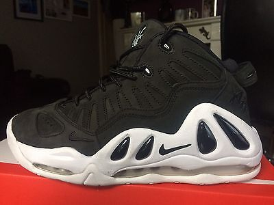 New Men's Nike Air Max Uptempo 97 Basketball Trainers Uk Size 9 Black/white