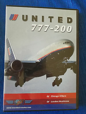 World Air Routes DVD UNITED AIRLINES Boeing 777-200 Triple Seven