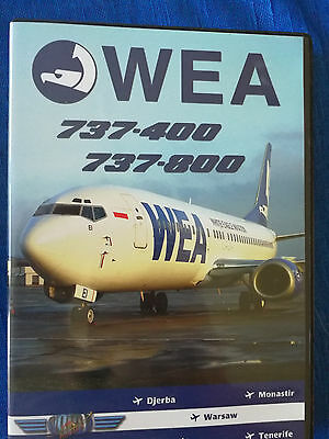 World Air Routes DVD WEA WHITE EAGLE AVIATION Boeing 737-400 & 737-800