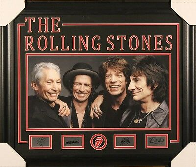 The Rolling Stones Framed photo with autograph facsimilies