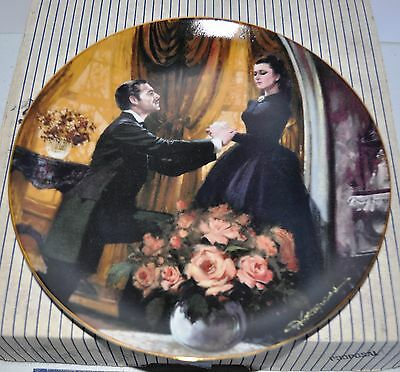 "W. S. George Fine China Plate - Gone With The Wind - ""The Proposal"" #15674H -COA"
