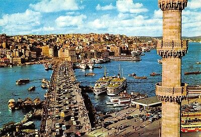 Turkey Istanbul A veiw from the City Boats Bateaux Bridge Cars Voitures