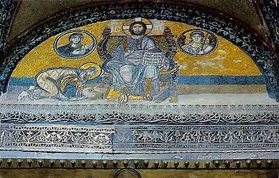 Turkey Istanbul The Mosaic of Interior St Sophie