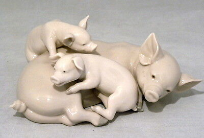 Retired Lladro Playful Piglets Figurine #5228