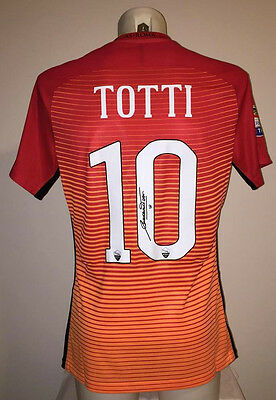 Totti Maglia Roma 2017 Signed Match Issue Worn Shirt Indossata Camiseta