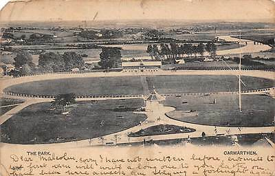 Wales Carmarthen, The Park, Aerial View 1900s
