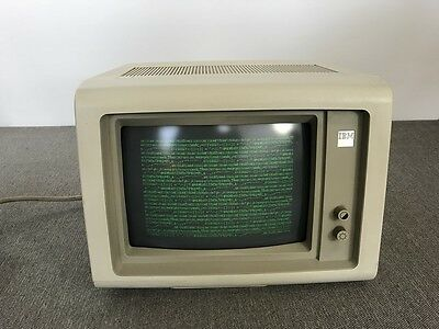 Vintage 1984 IBM 3178 Computer Monitor Monochrome Green | Tested & Working