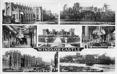 Windsor Castle, St. George's Chapel, Throne Room, Terrace, Guard, Thames 1947