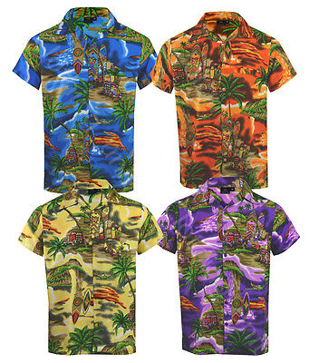 Mens Hawaiian Fancy Dress Beach Floral Shirt Holiday Short Sleeve Casual M-5XL
