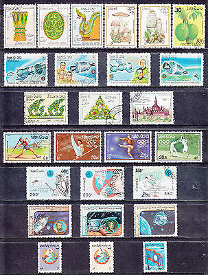 Collection Of INDIA Indian Laos Postes Lao Used Commemorative Stamps