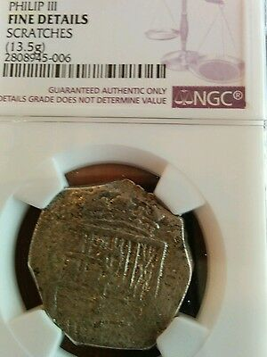 Spain 4 reales, Philip III, NGC fine details, some scratches, lot 449