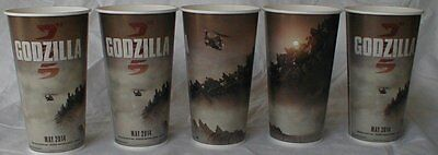 Godzilla Theater Exclusive Promotional five 32 oz Paper Cups