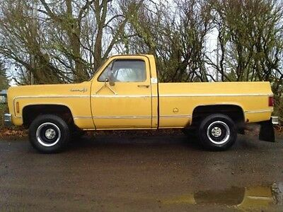 1973 Chevrolet C/K Pickup 1500 Cheyenne Super Rare 1973 Chevy K10 Short Bed Pickup Truck 4X4 w/350 4bbl V8, HEI distributor