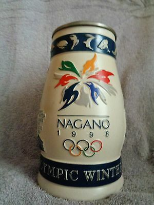 Nagano 1998 Officially Licensed Budweiser 1998 Olympic Winter Games Stein