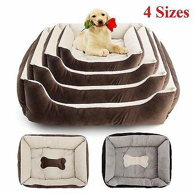 Large Luxury Pet Bed Dog Puppy Cat Washable Cushion Super Soft Warm Comfy Basket
