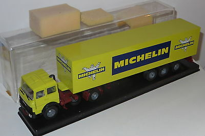vintage diecast toy articulated truck Iveco 1/43 Michelin tyres 703 mint boxed