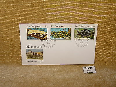 LAOS - POSTE LAO REPTILES COLLECTABLE THEMATIC 4V FIRST DAY COVER 1984 FDC   99p