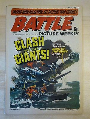 BATTLE PICTURE WEEKLY UK Comic. First Year Issue - 1975. (27 September 1975)